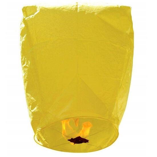 Χάρτινο Ιπτάμενο φαναράκι κίτρινο