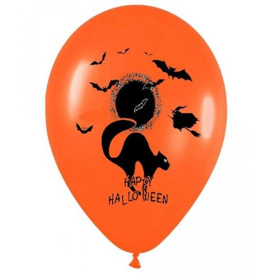 """Μπαλόνι Halloween Τυπωμένο 12"""" 2 χρώματα"""